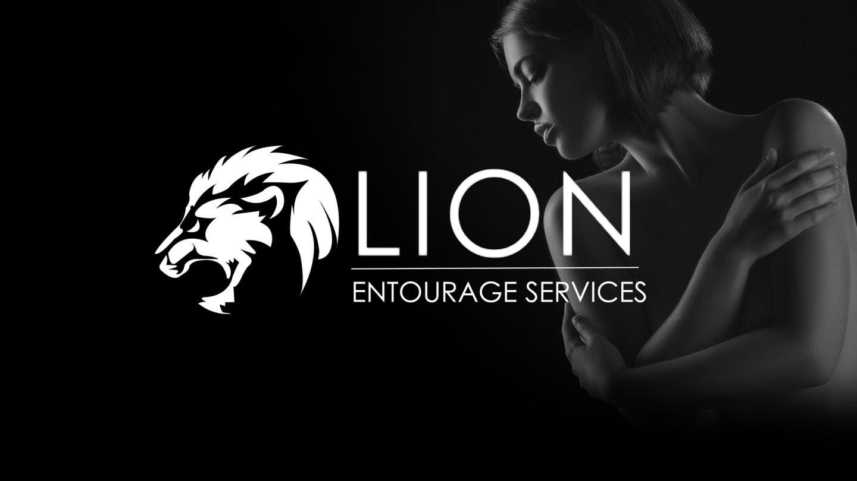lion entourage logo design