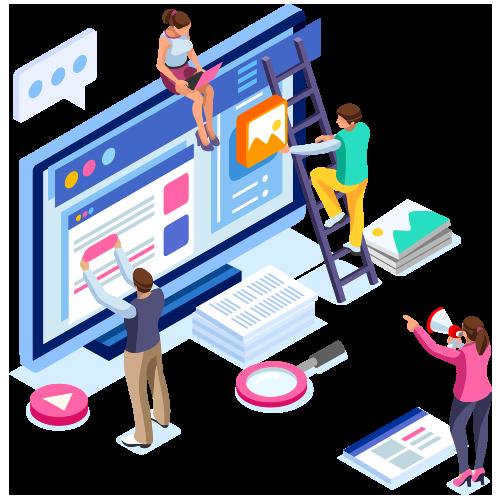 Brampton website designers and developers at work