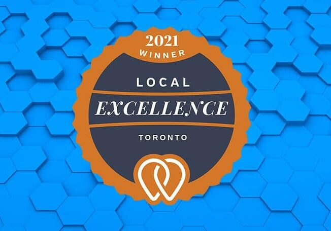 excellence award from upcity for life web and design